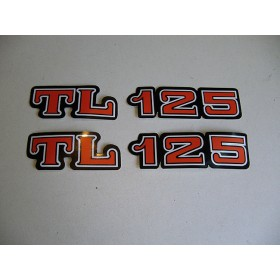 Honda TL paire d'autocollants de caches lateraux
