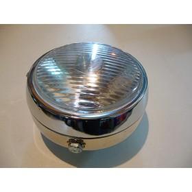 Phare style vintage chromé diamètre 13 cm avec interupteur
