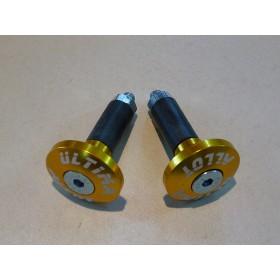 Embout de guidon (paire) aluminium anodisé or