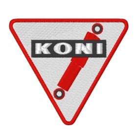KONI embroidered patch 8X7cm