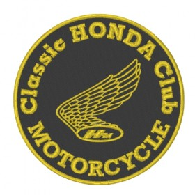 HONDA CLUB embroidered patch diameter 9cm