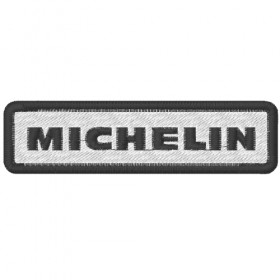 Ecusson brodé MICHELIN 10X2.6 cm