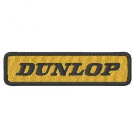 DUNLOP embroidered patch 10X2.6 cm
