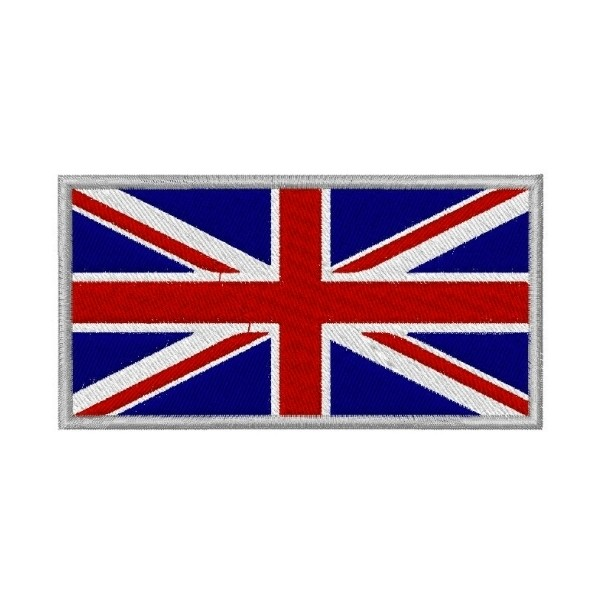 Ecusson brodé drapeau grande Bretagne 8X5.5 cm