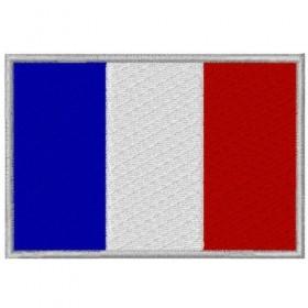 Ecusson brodé drapeau Francais 8X5.5 cm