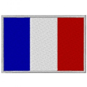 French flag embroidered patch 8X5.5 cm