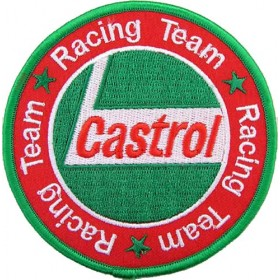 Ecusson brodé Team CASTROL Racing diametre 9 cm