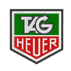 TAG HEUER embroidered patch 8X8.3 cm