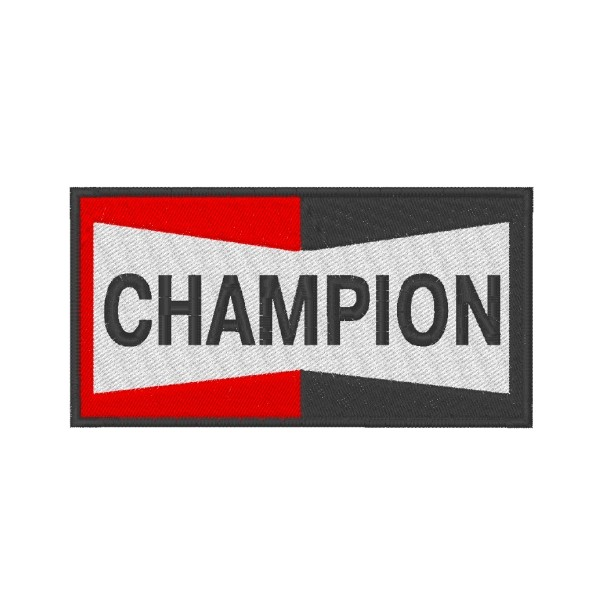 CHAMPION embroidered patch 10X5 cm