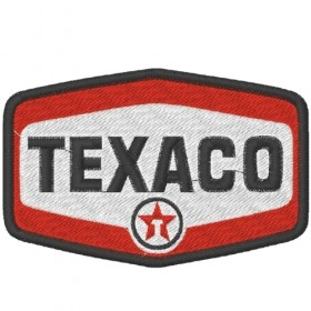 Ecusson brodé TEXACO 9X6 cm