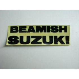 Suzuki Beamish autocollant 4X12 cm