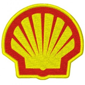 SHELL embroidered patch 8X7 cm