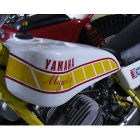 Yamaha Majesty pair of yellow tank stickers