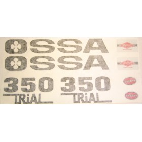 Ossa GOLD Tank and side panel sticker set