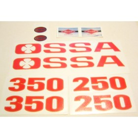 Ossa TR77 Tank and side panel sticker set