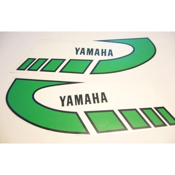 Yamaha Type 1K6 ( 1977 to 1979)  green tank decals set