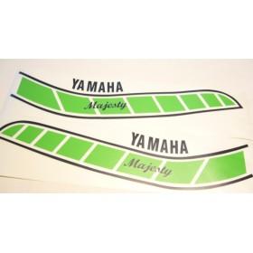 Yamaha Majesty paire de stickers réservoir verts