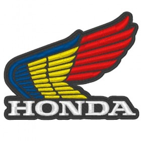 HONDA embroidered patch 10.5X8.5cm