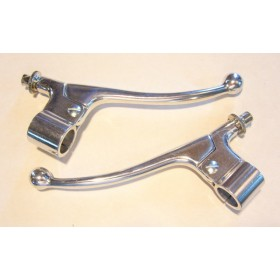 Complete AMAL type pair of brake and clutch holders and levers
