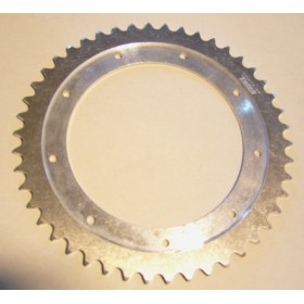 Bultaco Aluminium rear sprocket 46T link size 520, int diameter 152mm