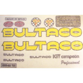 Bultaco Campeon kit complet de stickers