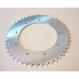 Bultaco Aluminium rear sprocket 46T link size 520, int diameter 140mm