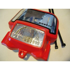GONELI Front light trial plate red