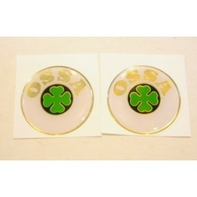 Ossa pair of tank stickers . diameter 5.7cm