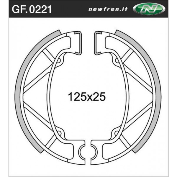 FANTIC 300 front brake shoes