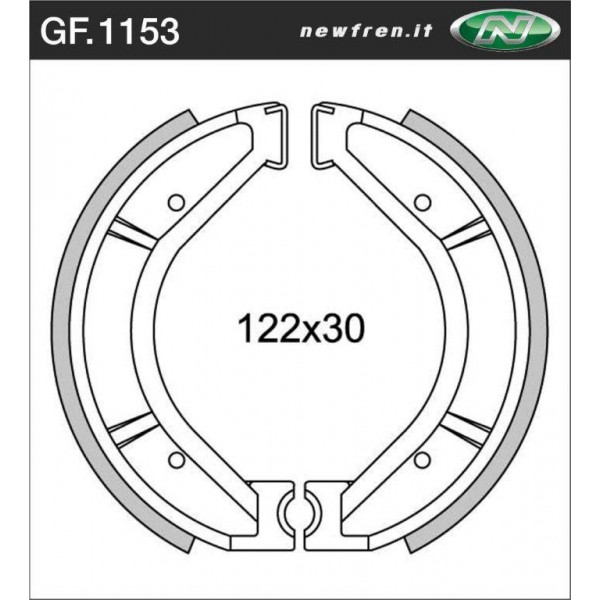 Ossa MAR & TR Front & rear brake shoes