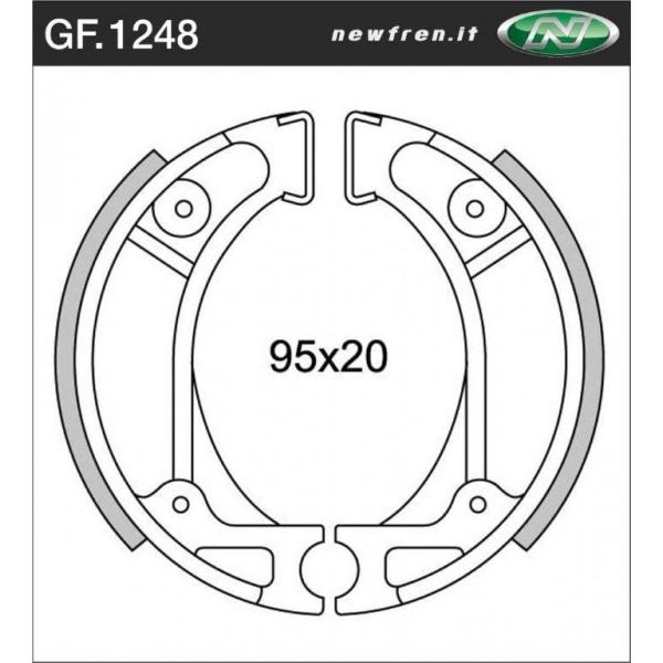 HONDA TLR 125 to 200 Brake shoes Pair 95mm