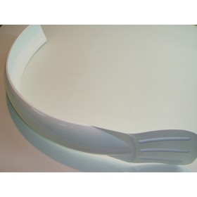 Universal white front mudguard