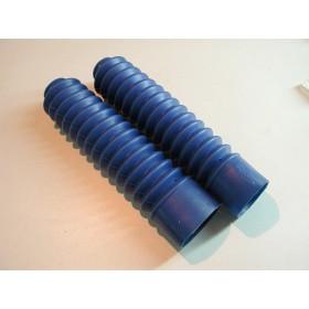 Paire de soufflets de fourche bleus Tubes 35mm longueur 32cm