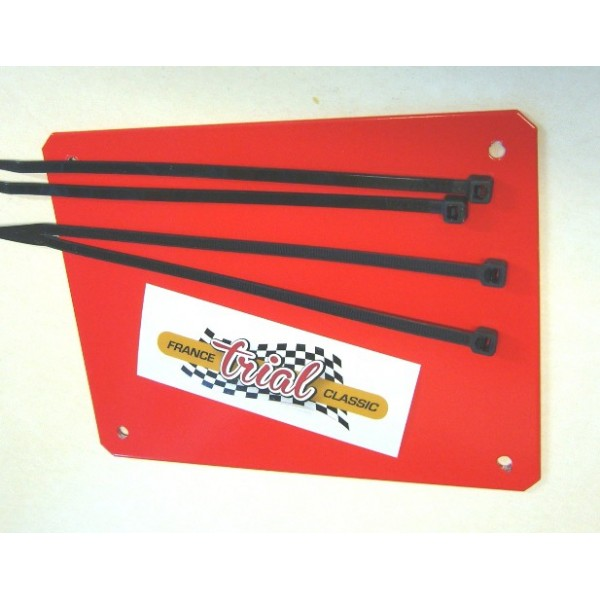 Alloy powder coated Red front plate