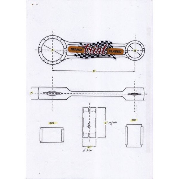 Bultaco 250 con-rod kit Pursang & Alpina