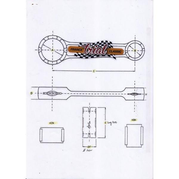 Montesa Cota 25 & 59 Rod kit