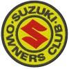 Suzuki Club embroidered patch diameter 8 cm