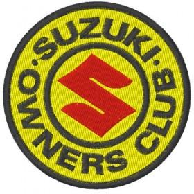 Ecusson brodé Suzuki Club diametre 8 cm