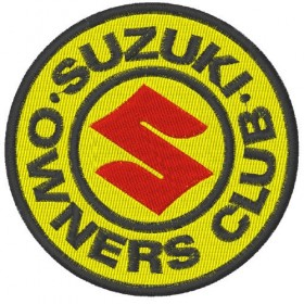 Suzuki Club embroidered patch diameter 8 cm