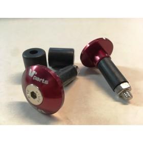 Embout de guidon (paire) aluminium anodisé noir