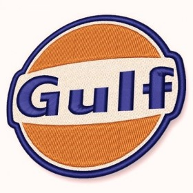 Gulf embroidered patch diameter 8 cm