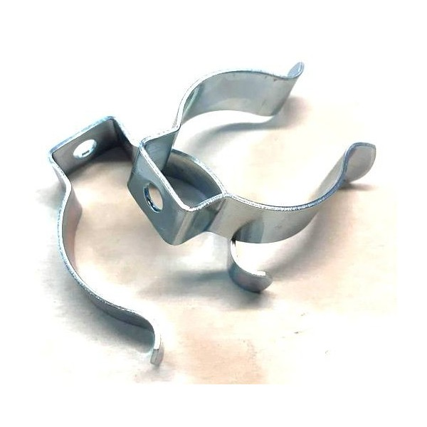 Pair of fixing clips for aluminum headlight plate (30mm fork)