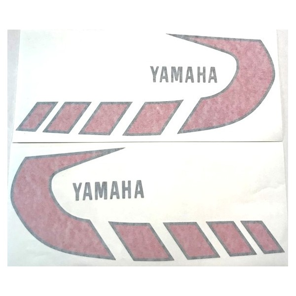 Yamaha TY 50 & 80 Europe red tank decals set