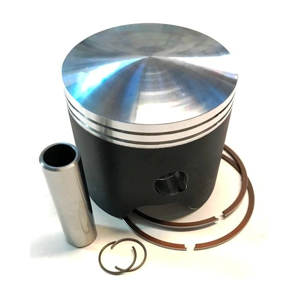 Ossa 350 piston with clips, pin & rings diam 77.77mm