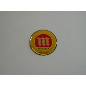 Montesa paire de pastilles de réservoir en relief (original) diam 5.6cm