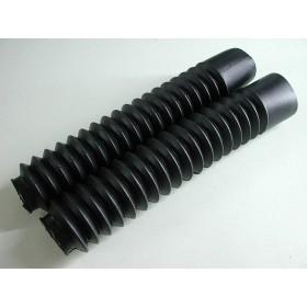Paire de soufflets de fourche noirs Tubes 35mm. longueur 32cm