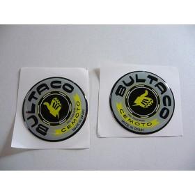 Bultaco pair of tank stickers . diameter 5.7cm