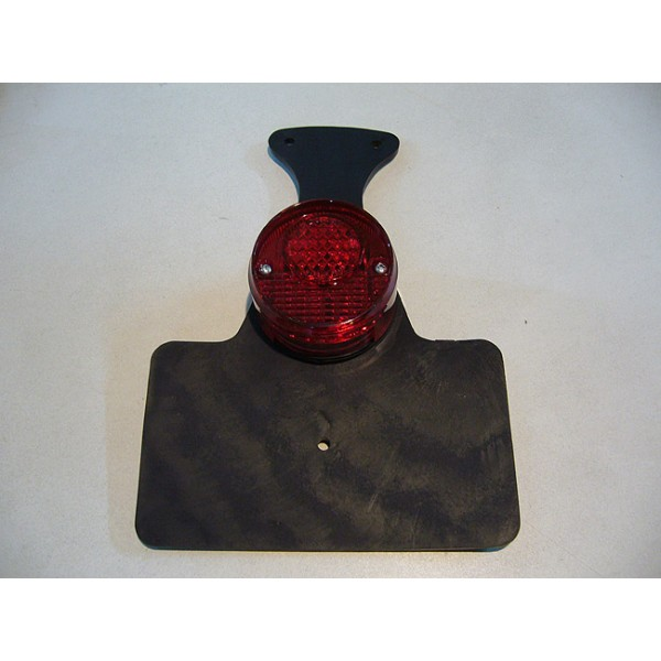 Universal rear light with rear number plate