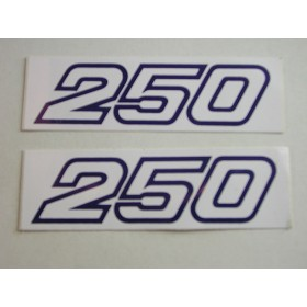 Yamaha original pair of monoshock stickers (12X3.6cm)