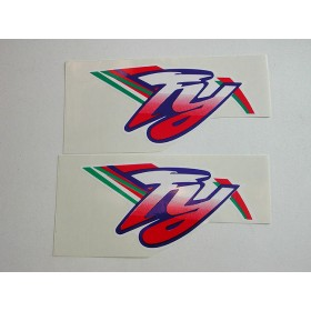 Yamaha original pair of monoshock stickers (15X7.5 cm)